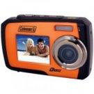 Coleman-14.0 Megapixel Duo Underwater Dual Screen Digital Camera (Orange)