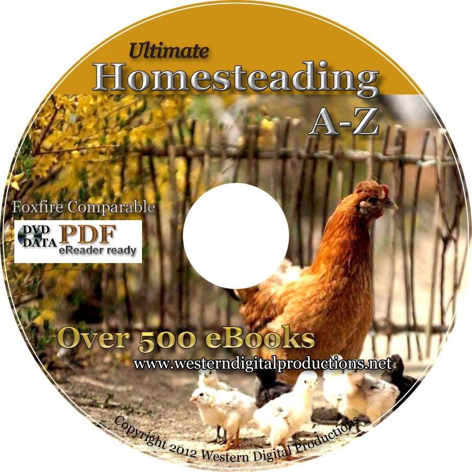 Data DVD BACK TO BASICS SURVIVAL Raising Chickens Rabbits Goats Ducks Honeybees Gardening