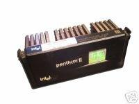 Intel Pentium II MMX SL2QA P2 233MHz CPU Processor Slot 1 with Intel Heat Sink and Fan