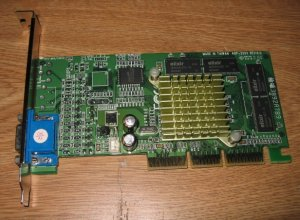 AOpen M64-AGP PC Video Card RIVA 32MB TNT-2