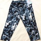 Champion Women's Absolute Workout Tigh Fit Capri Legging Blue Black Floral XS