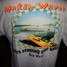 "Powerboat Racing T-Shirt 100% cotton "" Makin Waves "" Key West"