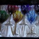 Faberge Odessa  Hock Crystal Wine Glass set of 6 in the original box