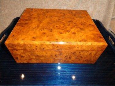 MASTRO DE PAJA -  Burl Wood cigar Humidor 50 count Made in Italy