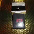 Nike Jordan tennis wrist band in Black with Red Embroidered Logos