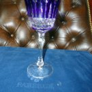 Faberge Crystal Xenia Cobalt Blue Wine Glass new without the original box