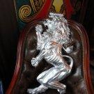 "Rampant Lion Metal Wall Plaque measures 32"" H x 15"" W"