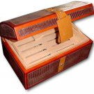 Royal Jamaican Brown Lizard Faux Skin Humidor NIB