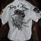 Rebel Spirit Mens Causal Short Sleeve Shirt preowned size Medium