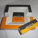 "Cohiba ceramic ashtray measures approx 7.5"" x 7.5"" x 2"""