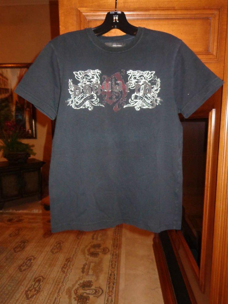 Dsquared2 Mens Designer t-shirt shirt pre-owned size: medium