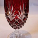 Faberge Crystal Odessa Ruby Red  Water or Ice Tea Beverage Glass