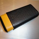 Cohiba Black & Gold Leather & wood  Case holds 3