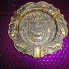 "Nautical   Brass Plated Cigar Ashtray 7"" diameter"