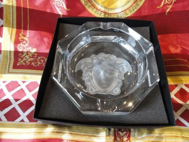 Versace Medusa Lumiere  Clear Ashtray new in damage box