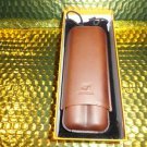 Cohiba Brown Leather  Cigar Case holds 2 Large  Ring Guage cigars
