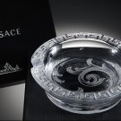 "Versace Arabesque Crystal Ashtray in the original box measures 6.25"" diameter"