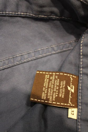 7 for all man kind blue slimmy 32 jeans