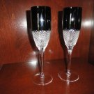 Faberge Champagne Flutes in Amethyst Diamond pattern  in the original box