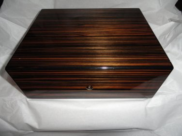 Elie Bleu Macassar Ebony Humidor 75 Count new in original box