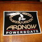 ARONOW POWERBOATS AUTHENIC XTRA LARGE DECAL NEW