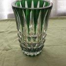 Art Deco Green Crystal Vase
