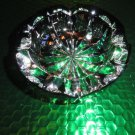 St Louis Ambassadeur Emerald Green  Crystal Glass Ashtray France Signed