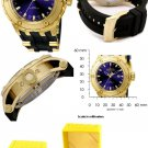 Invicta Men's 6185 Reserve Collection GMT 18k Gold-Plated Stainless Steel Black