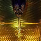 Faberge  Odessa Cobalt Blue Hock Crystal Wine Glass new without box