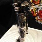 cigar cutter golf bag with clubs design