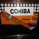 "Cohiba cigar scene  large size painting  43"" L x 31 W ""  brushed gold framed"