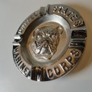 USMC  Ashtray solid alum nickeled & then  chrome plated Made in USA
