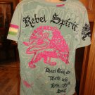 Rebel Spirit Mens Designer T-Shirt Size: large