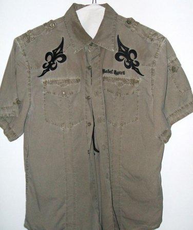 Rebel Spirit mens large casual dress shirt