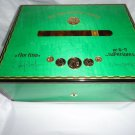 Elie Bleu Medals Pistachio Green Sycamore  Humidor 75  Ct new in original box