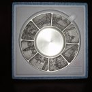 """Royal Selangor Penang Pewter Plate 8"""" Diameter new in box with wooden stand"""