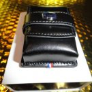 s.t.dupont black leather carring case  model no. 180024 in the original box NIB