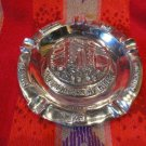"""polished pewter 8 """" cigar ashtray with 5 slots for your ciggars"""
