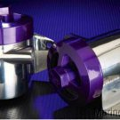 Marine Machine Sea Strainers 316L custom stainless steel polished w purple tops