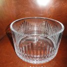 """FABERGE  BOWL 8.75""""  CLEAR CUT CRYSTAL, SIGNED, NEW IN ORIGINAL BOX"""