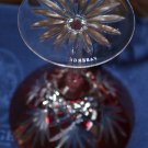 Faberge Odessa Red Martini Glass without the  original presentation box