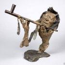 "Mark Hopkins Bronze Sculpture "" Grandfather's Prayer"" comes in the foundry box"