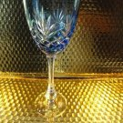 Faberge  Odessa Sky Blue Hock Crystal Wine Glass new without box