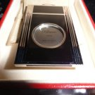 s.t.dupont cigar cutter in black lacquer and palladium in the box with pouch