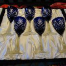 Faberge Odessa Cobalt Blue  Tall  Wine Glases  without the original box