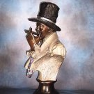 """""""  ONE PUFF AT A TIME  """"  BRONZE SCULPTURE LIFE SIZE BUST"""