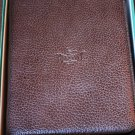 pheasant by R.D.Gomez made in Spain Brown  Colored Leather  Case