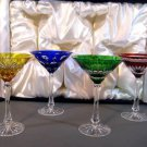 FABERGE NA ZDOROVYA MARTINI GLASSES WITHOUT THE ORIGINAL BOX