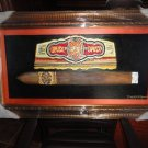 "Famous cigar band large size painting  42"" x 25""  x 2"" brushed gold framed"