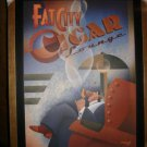 Lounge Art Deco Poster by Michael Kungl mounted and custom framed